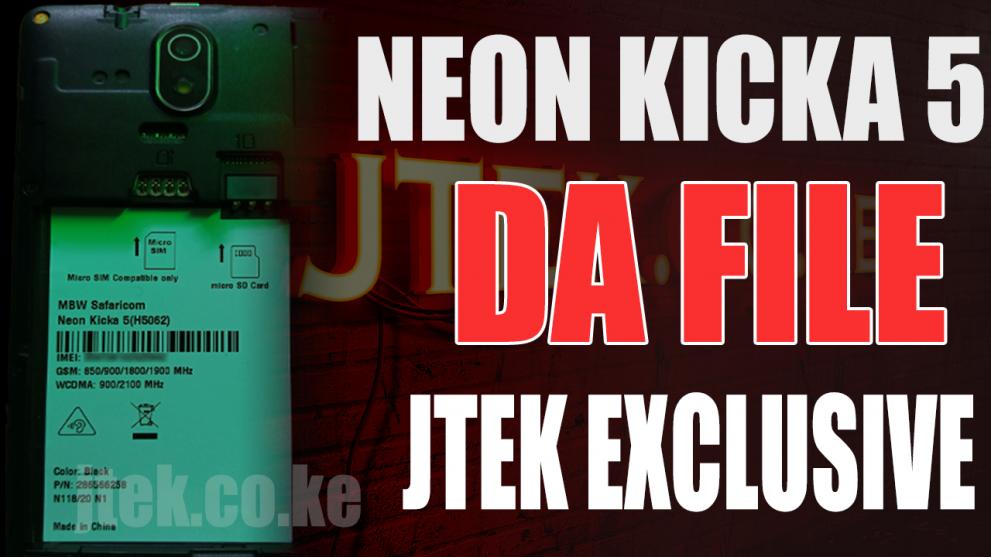 Safaricom Neon Kicka 5 DA File
